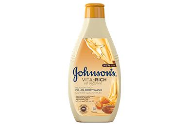 JOHNSON'S<sup>®</sup> VITA-RICH Живильний гель для душу з оліями Мигдалю та Ши