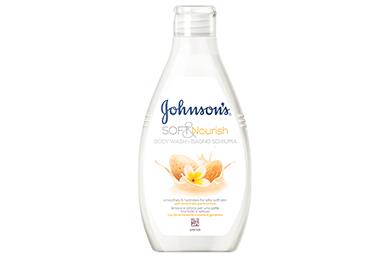JOHNSON'S<sup>®</sup> Пом'якшувальний і живильний гель для душу з олією Мигдалю і ароматом Жасмину