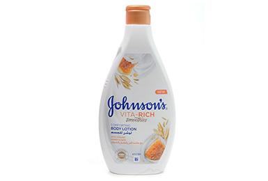 JOHNSON'S<sup>®</sup> VITA-RICH СМУЗІ Доглядаючий лосьйон для тіла з йогуртом, вівсом і медом 400 мл